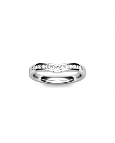 Wishbone Ring Set With Diamonds