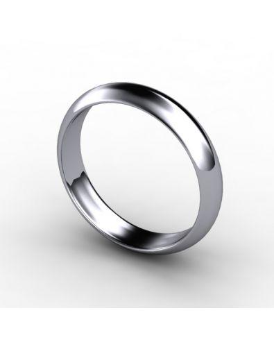 D-Shaped Wedding Ring